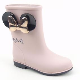 0bb952246a7 Sapatos Passarela Galochas Botas - Botas para Feminino Rosa claro no ...