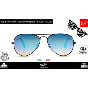 1278a32bc16b9 Óculos De Sol Ray Ban Aviador Preto Espelhado - Óculos no Mercado ...
