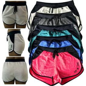 Kit 3 Shorts Feminino Moletinho Com Cadarço R$14,83 Cada