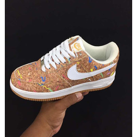 sale retailer 8dfa0 57cfd Zapato Nike Air Force One Corcho Y Normales