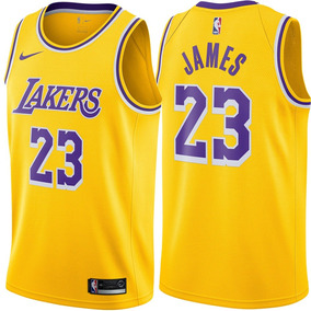 91f9f1870f Camisa Nba Lakers Nº23 Lebron James Titular Amarela 2019