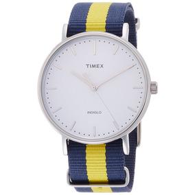 fccd2b0553ec Reloj Timex Correa Azul - Reloj para Hombre en Mercado Libre México