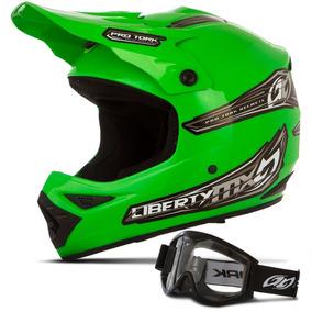 Capacete Cross Pro Tork Mx Pro Verde Motocross + Óculos 788 ... 7db228519ff