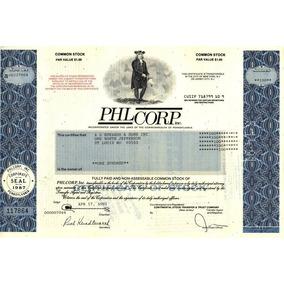 Antiga Apolice - Empresa Americana - Philcorp. Inc, 1991