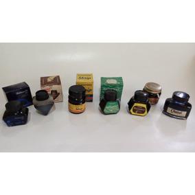 Lote 7 Vidros De Tinta P/ Canetas Parker Montblanc Waterman