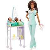 Barbie Carreras Bebé Doctor Muñeca Playset, Morena