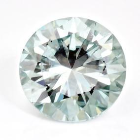 Moissanita Blanca/verde 0.93 Ct 6.41mm Mossainite Diamante