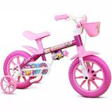 Bicicleta Infantil Feminina Aro 12 Flower Nathor
