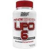 Lipo 6 Fast Acting Liquid 120 Caps White Nutrex Original Eua
