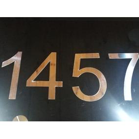 Combo X 4 Números,acero Inox,dirección De Casa 10cm Altura.