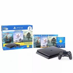 Ps4 Slim Sony 1tb 3 Jogos Bundl Playstation 4 Pronta Entrega