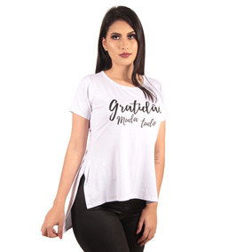 9ddec6429 Camisetas Long Line Atacado - Camisetas e Blusas Manga Curta para ...