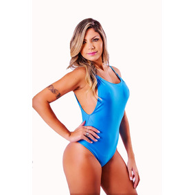 Maiô Body Regatão Cavado Decote U Moda Praia Feminina