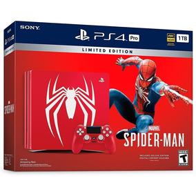 Playstation 4 Pro Ps4 Pro Ed. Spider-man Homem-aranha 1tb 4