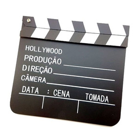Claquete Clacket Madeira 28cm De Cinema Filmagens E Youtube