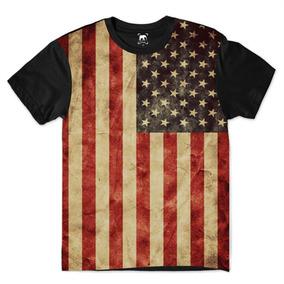 2ee94fd108 Camiseta Bandeira Estados Unidos Masculina - Calçados