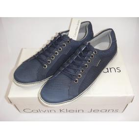 Tênis Couro Calvin Klein Sunset N Y C Couro Legítimo ( R512)