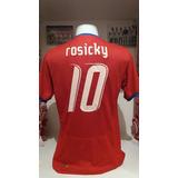 a6eef6eaf8 Camisa República Tcheca Vermelha Rosicky - Futebol no Mercado Livre ...