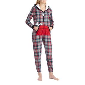 Pijama Snoopy Peanuts Graphic Hooded Jumpsuit Dama Mujer L