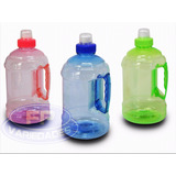 3 Garrafas Squeeze Água Mini Galão 1 Litro Academia(fp1)