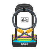 Candado Bicicleta + Guaya Onguard Neon 8154 U Lock Amarillo