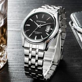 Relógio Masculino Analógico Kingnuos Aço Inox Calendario