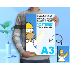 Kit 4 Poster Alta Qualidade Papel Brilho 300 Gramas