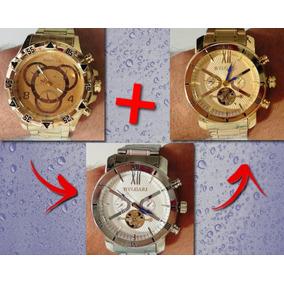 4429cd5b0d2 Relogio Grande Pesado Prata - Relógios De Pulso no Mercado Livre Brasil