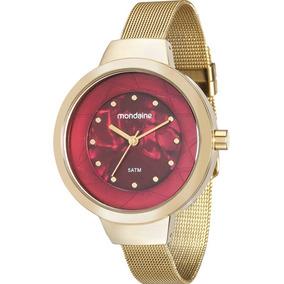 Relógio Mondaine Feminino Dourado E Bordô 99052lpmvde1