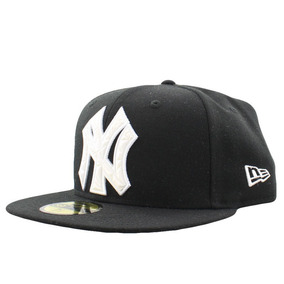 New York Yankees New Era Black Rubber 59fifty Mlb T  7 5 8 e448cbcee07