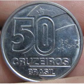 Moeda Antiga 50 Cruzeiros 1991 Brasil