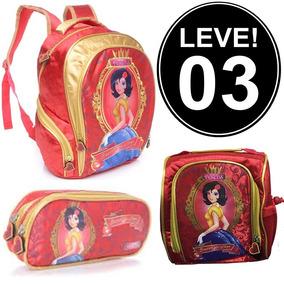 Compre 2 Leve 3! Kit Mochila Estojo Lancheira Escolar Menina