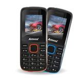 Celular Ax-2002 1,77 Dual Chip Preto/vermelho - Amvox