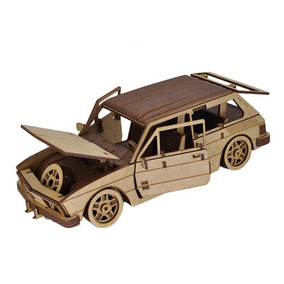 Miniatura Em Mdf Volkswagen Brasilia 1980
