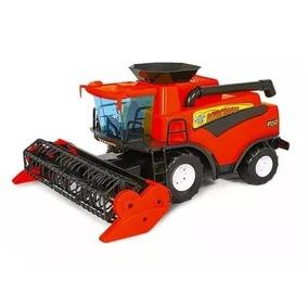 Mini Colheitadeira Infantil Brinquedo Agrícola Vermelho