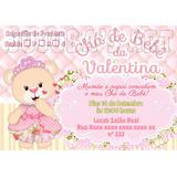 Convite Cha De Bebe Ursinha Princesa No Mercado Livre Brasil