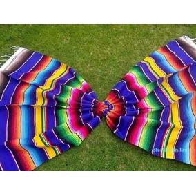 Set De 2 Sarapes Mexicano Saltillo 1.50x2.10