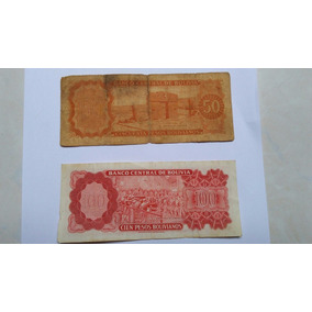 Cédulas De Pesos Bolivianos