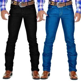 Kit 02 Calça Jeans Masculina Lycra Country Slim Azuzak d41fd5f26a9