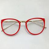 Armação Óculos P grau Femenino Retro Metal Geek Novinho 93f02000f2
