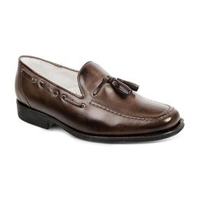 Sapato Masculino Mocassim Sandro Moscoloni Abraham Marrom