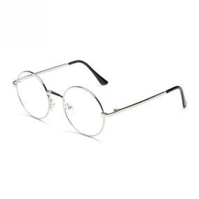 Óculos Redondo Armação Prateada 40 Mm - Óculos no Mercado Livre Brasil cf6fbfcb5c