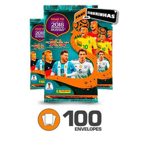 Cards Panini Adrenalyn Cup 2018 Rússia - 100 Envelopes