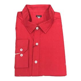 Camisa Slim Fit Caballero Rojo 3xl - Peaceful Clothing