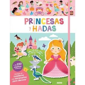 Princesas Y Hadas Libro Con Escenarios 230 Stickers Auzou