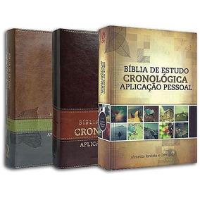 Bíblia De Estudo Cronológica Aplicação Pessoal - Luxo -r.c.
