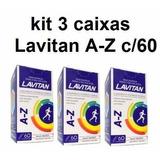 Kit 3 Caixas Lavitan Az C/60 Comprimidos
