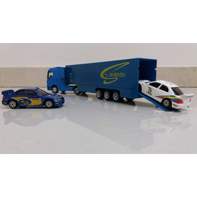 Raro Mercedes Actros V8 + Trailer Subaru 1:64 = Greenlight