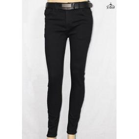 Pantalones Jeans Slim Fit Colores Rasgado Stretch Hombre