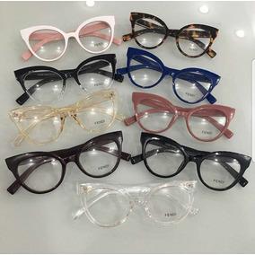 Óculos Armação De Grau Gatinho Acetato Geek Fnd Frete+brinde · 8 cores. R   120 31fa9b2d14